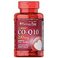 Puritan's Pride 普麗普萊 輔酶Q10快速釋放軟膠囊,200毫克,有益于心臟,240粒