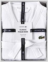 LACOSTE 鳄鱼经典珠地布盒装睡袍,* 棉,均码 白色 均码 RB16708N01DIBOX