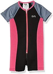 TYR 女童纯色保暖套装