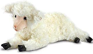 HANSA 可爱羊,栩栩如生的面部和柔软的毛绒毛皮