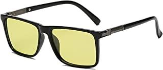 Digital Land 驾驶太阳镜 早日夜通用 带调光&偏光功能 弹簧铰框 黄色镜片