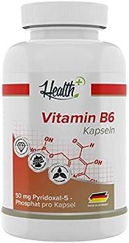 Health + 维生素 B6 50mg-120 粒维生素 B 胶囊,高剂量纯 P-5-P,吡哆醛 5 磷酸盐,B6 维生素胶囊,70g