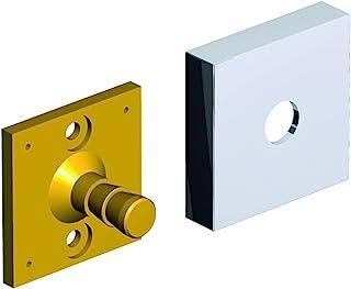 BRAVAT Quaruna,替换产品墙壁适配器,带挡板,黄铜,铬,44 x 44毫米