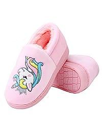 Anddyam 儿童家庭独角兽拖鞋 家用防滑室内家居拖鞋 适合女孩和男孩