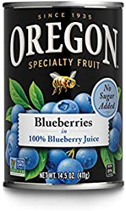 Oregon Fruit Blueberries in 100% Blueberry Juice, 14.5 oz (Pack of 4)
