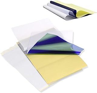 纹身转印纸 - AIMOM 35 张模板转印纸 纹身热模板纸 A4 尺寸纹身描纸 适用于纹身转印机
