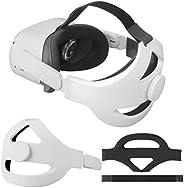 Eyglo 可調節精英表帶適用于 Oculus Quest 2 頭帶,增強支撐,減少頭部壓力,舒適觸感(白色適合 Quest 2)