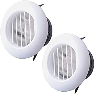 Wadoy 6 英寸(约 15.2 厘米)圆形 Soffit 通风口带屏幕,适用于浴室排气扇,ABS 百叶窗格栅盖白色