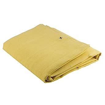 Sellstrom 24oz。 亚克力涂层玻璃纤维毯,玻璃纤维,腈纶,黄色 6ft x 8 ft S97609 1