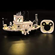 LightTAILING 灯具套装(米老鼠 Steamboat Willie)积木模型 - LED 灯套件兼容乐高 21317(不包括型号)