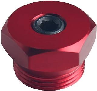 JGR 99-03 F250 F350 7.3L Powerstroke 钢坯铝进气加热器增强插头传感器螺纹适配器(红色)