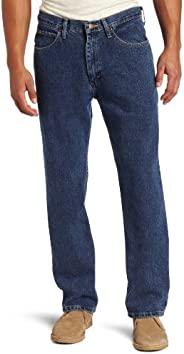 Lee Men's Relaxed Fit Straight Leg Jean, Medium Stone, 30W x