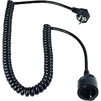 as - Schwabe 70425 接地螺旋电缆,黑色as-Schwabe70425接地螺旋电缆,230 V