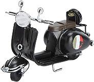 Yosoo 摩托车工艺复古风格铁摩托车模型装饰创意家居桌窗装饰摄影道具(黑色)