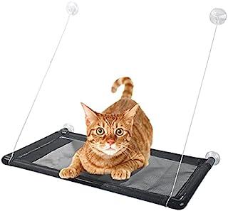 Aether 猫吊床猫窗栖息地适用于大型猫猫床,可容纳两只大猫,*透气网眼织物稳定牢固框架室内猫窗吊床允许猫日光浴
