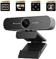 Microuter 1080p USB 网络摄像头,带 H.264 视频压缩和隐私盖,流媒体摄像头,即插即用,自动对焦会议、游戏、在线课程