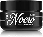 Nocro 男士*佳*眼霜   轻质眼霜 适用于黑眼圈、乌鸦脚、浮肿、皱纹、眼袋   w/绿茶、维生素C、维生素E、透明质酸   5盎司(150ml)无香料
