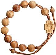 橄榄木可调节10毫米念珠手链