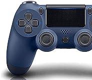 PS4 控制器无线蓝牙游戏手柄 适用于 Sony 索尼 Playstation 4 带 USB 线 兼容 Windows PC 和 Android iOS 【*版】(午夜蓝)