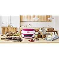 Tefal 蛋糕工廠,蛋糕制作器,白色/粉色,KD801840,輕松烘焙硅膠模具,烘焙,蛋糕,薰衣草蛋糕