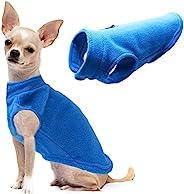 狗狗羊毛背心柔软冬季夹克毛衣,带 D 形环牵绳寒冷天气外套连帽衫,适合小型中大型犬,蓝色 XL 码