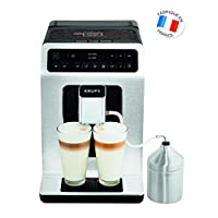 Krups 克鲁伯 Evidence 全自动咖啡机 EA891D,Barista Quattro Force技术,12种咖啡饮品,3种茶饮,一键式卡布奇诺制备功能,金属