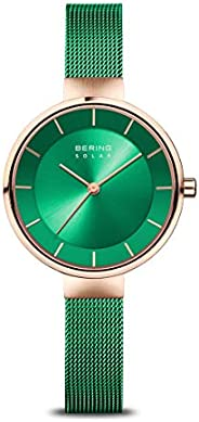 BERING 女士模拟太阳能手表带不锈钢手镯 14631-慈善