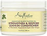 SHEA MOISTURE 牙买加黑蓖麻油护发素,用于过度加工、受损的发质,纯牙买加黑蓖麻油,软化和梳理,11.5 盎司(340ml)