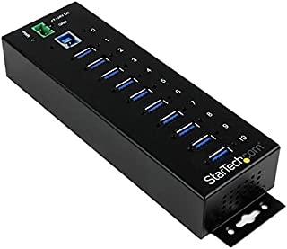 10 Port USB 3.0 Hub - Industrial - ESD and Surge Protection - DIN Rail or Surface Mountable - Metal - Powered USB Hub