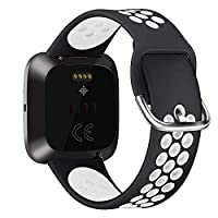 适用于 Fitbit Versa   新款 Fitbit Versa 智能手表软硅胶替换运动表带