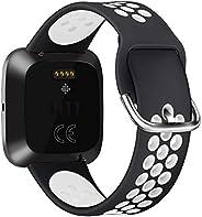 适用于 Fitbit Versa | 新款 Fitbit Versa 智能手表软硅胶替换运动表带