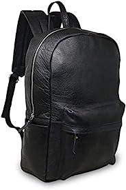 45.72 厘米黑色真皮笔记本电脑背包防水休闲办公专业学院书包舒适轻便旅行背包男式