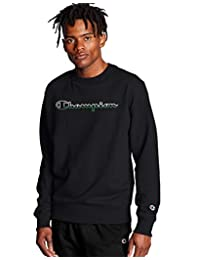 Champion Men's Powerblend Applique Crew Neck Sweatshirt