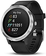 Garmin 佳明 010-01769-01 Vivoactive 3 GPS 智能手表,具有非接触式支付功能,内置体育应用程序,黑色,带银色硬件