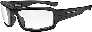 Harley-Davidson 男士 Cruise 2 垫圈太阳镜,透明镜片/黑色框架 HACRS03