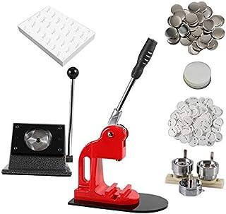 Button Maker 徽章机 58 毫米 / 2.28 英寸(2¼ 英寸) | 重型圆形切割机 | 300 个圆形按钮 | 100 张特殊印刷纸