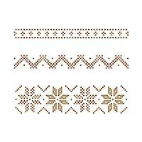 Spellbinders 圣誕毛衣條紋閃亮熱燙板,金屬