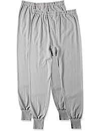 GUNZE 郡是 男士 保暖衬裤 温暖柔软顺滑 棉100% 前开口 2条装 RP55022