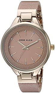 Anne Klein 女士树脂手镯手表,AK / 1408,施华洛世奇水晶点缀