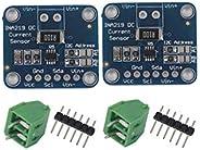 N / A 2 件 INA219 I2C 双向直流电流电源传感器断路模块兼容Arduino Raspberry Pi 树莓派
