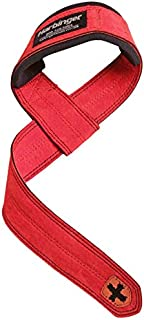 Harbinger 加垫皮革提起带,红色
