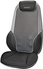 HoMedics Shiatsu Max 2.0-电加热的Shiatsu 肩背按摩器,可调节按摩肩部,背部和大腿,具有滚动振动,可缓解深层肌肉,头枕和坐垫后瓣可调节 -灰色