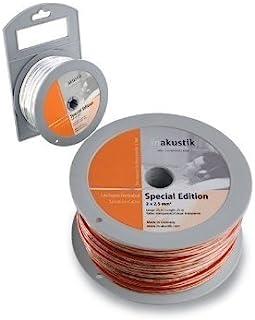 In-akustik Star 特别版扩音器电缆,带 2x 1.5 mm2 穿孔板 30 m 白色