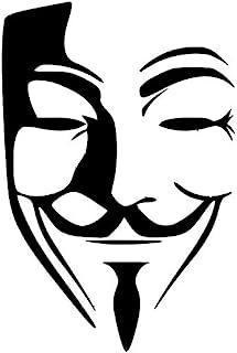 匿名贴花乙烯基贴纸 汽车卡车货车墙壁笔记本电脑 黑色 5.5 x 3.8 in DUC155