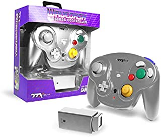 Ttx Gamecube Wavedash Wireless2.4 Ghz 控制器银色,适用于 Nintendo Gamecube 配有 Wii 控制台(Nintendo Wii)