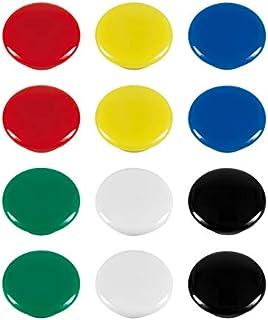 WESTCOTT 磁贴,10件装,20毫米,圆形,银色,E-10834 00
