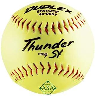 Dudley 4A069YR6 Thunder SY 垒球,ASA,12 英寸,6 只装 - 数量 1