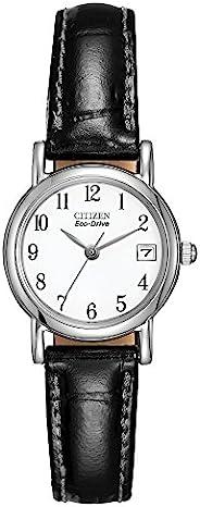 CITIZEN 女式光动能不锈钢黑色表带腕表