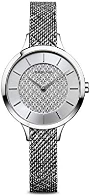 BERING 女式模拟石英手表不锈钢表带 17831-000