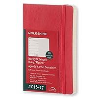 Moleskine 2016 7月至 2017年18 个月每周规划本 - 猩红色软面笔记本 (口袋)